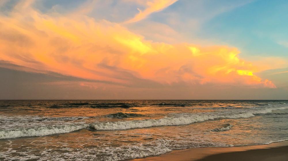 Another beautiful North Carolina sunset off Topsail Island's beach