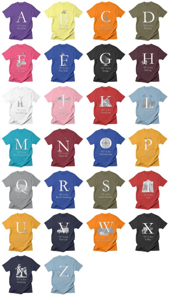 Alphabet T-Shirts ABCs