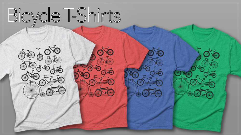 bicycle t-shirts on treadless artist shop the wandering fools merch